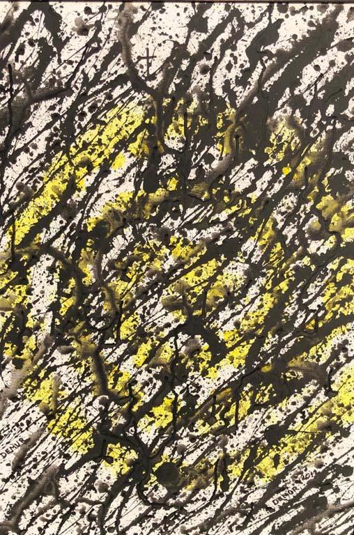 Žuta spirala s crnim kapljicama
