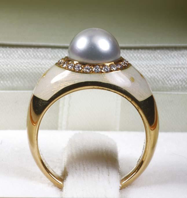 Prsten Fabergé od žutog 18kt zlata u originalnoj kutiji