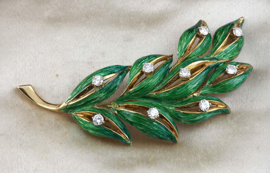 Tiffany broš u obliku palme od 18kt žutog zlata
